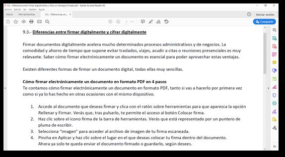 Signar digitalment un document