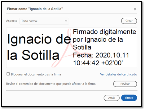 Firmar digitalmente un documento